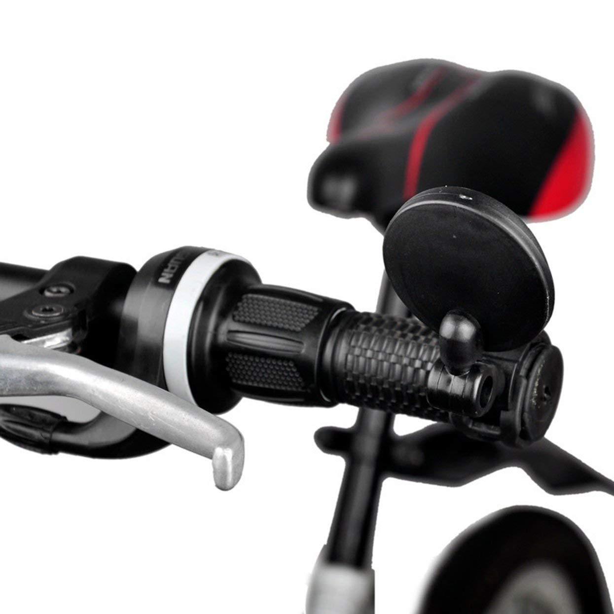 Tree-on-Life Espejo retrovisor Redondo peque/ño Compatible para Bicicleta de monta/ña y Mango de Silicona