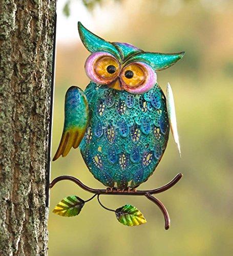 Metal Owl on Branch Wall Art ()