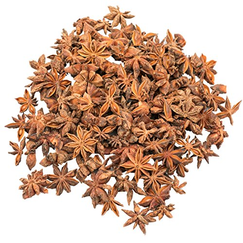 SOEOS Star Anise Seeds(Anis Estrella) , Whole Chinese Star Anise Pods, Dried Anise Star Spice, 4oz.