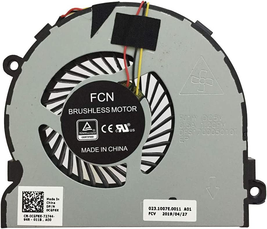 PYDDIN Laptop CPU Cooling Fan Cooler for Dell Inspiron 5547 5548 5545 5542 5543 5441 5442 5443 5445 5447 5448 5000 15MR-1528s 14MD-1628s Dell Inspiron 3567 3467 3576 P/N: 03RRG4 0CGF6X
