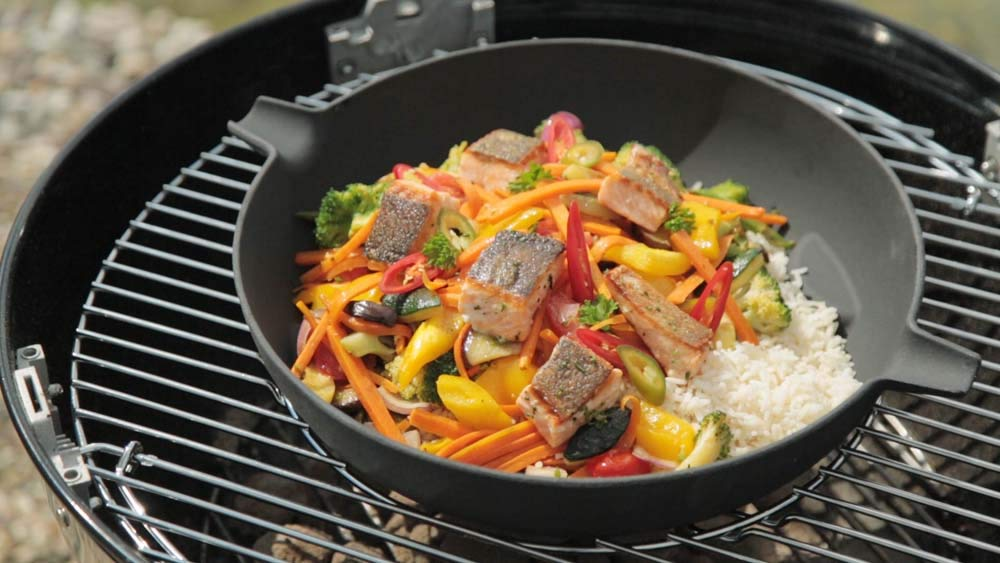 Fireplaces Tepro Cast Iron Wok For Use With 57cm Grid In Grid System