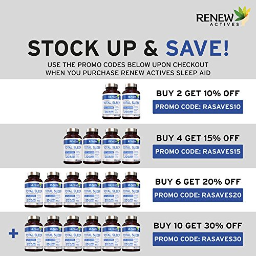 All Natural Sleep Aid Supplement. Non-Habit Forming Sleeping Pill. Our Guarantee is A Deeper, Longer & Restful Sleep! Starting Tonight Get the Peaceful & Natural Sleep You Deserve! by Renew Actives (Image #2)