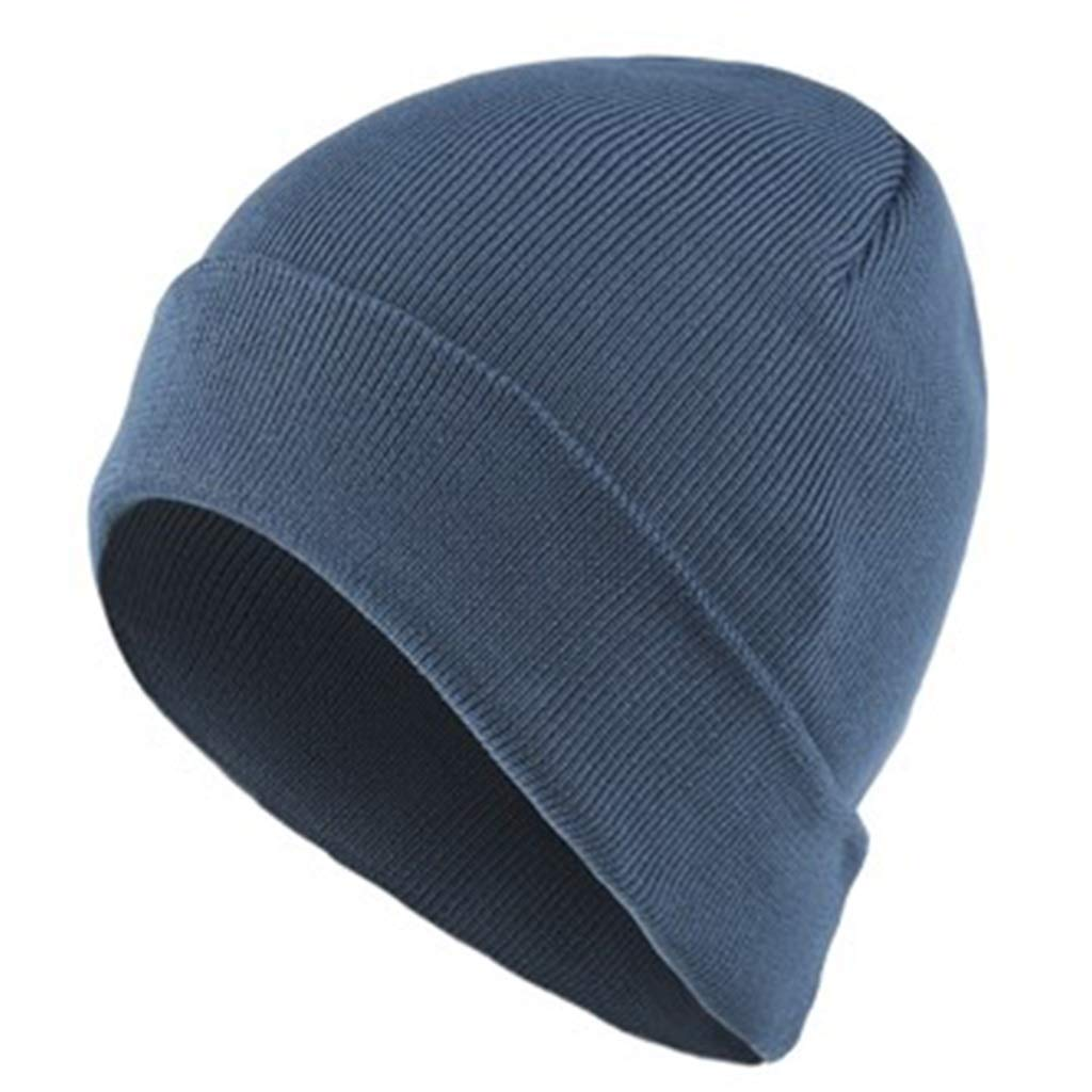 41fba800ea256d bluee Caps Hat Winter Wool hat Thick Thick Thick Warm caps Winter Youth  Middle-Aged Men's Acrylic Solid color Curling Knit hat Autumn and Winter  Fashion ...
