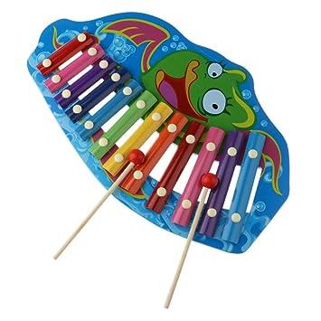 Xilófono Piano 12 Tonos Juguete Música Blesiya Colorido B De eEH9YW2DI
