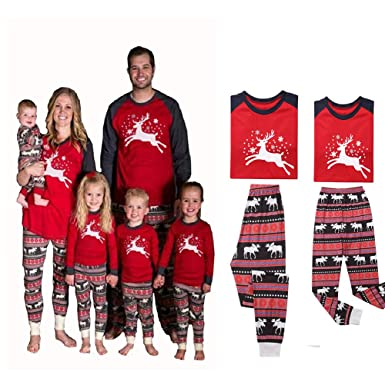 4d8196676f Christmas Family Matching Adult Women Men Kids Baby Sleepwear Nightwear  Pajamas (XL