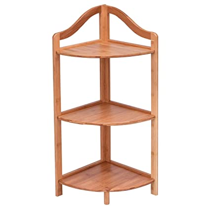 Amazon Com Giantex 3 Tier Corner Shelf Free Standing Corner Rack