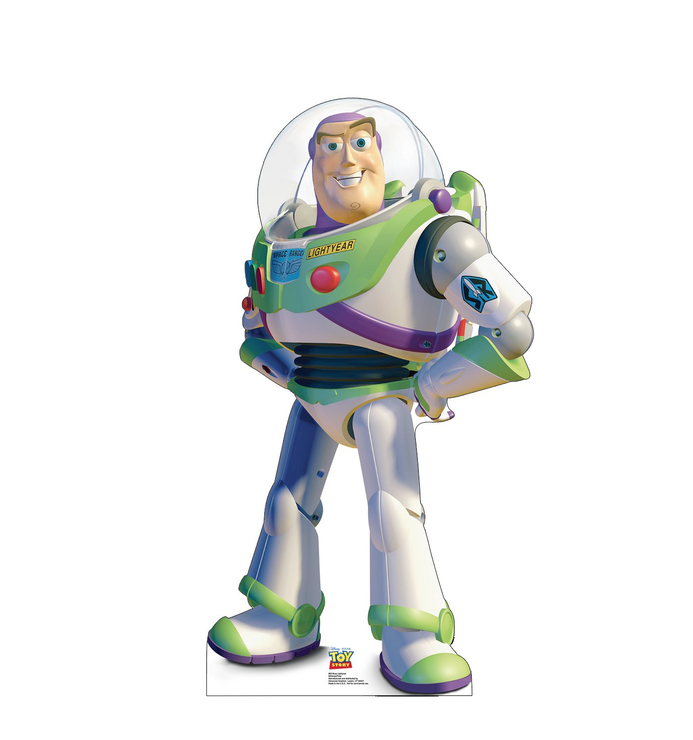 Advanced Graphics Buzz Lightyear Life Size Cardboard Cutout Standup - Disney Pixar's Toy Story