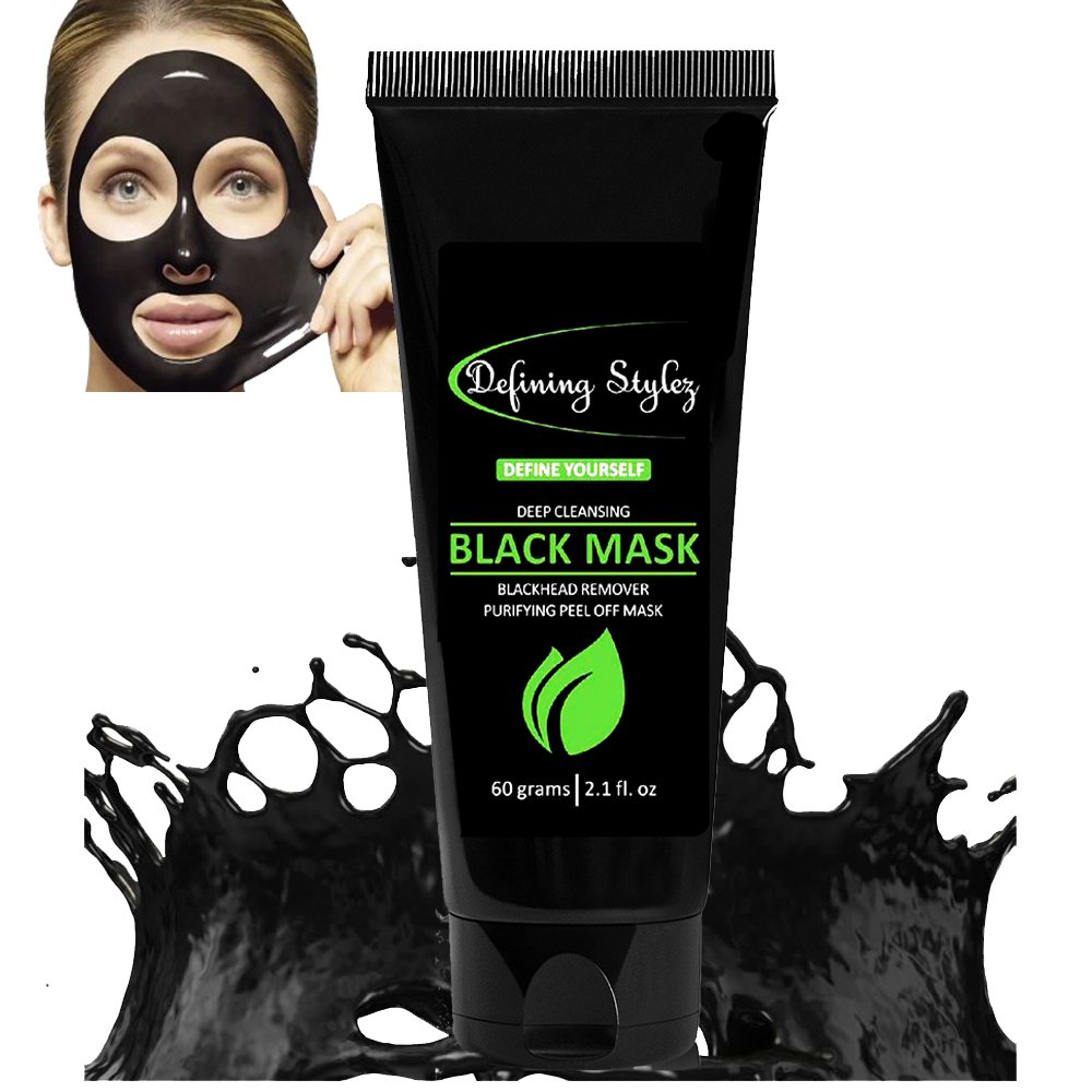 Defining Stylez, Blackhead Remover, Black Mask, Pore Cleanser, Peel Off Mask, Charcoal Mask, Acne & Acne Scars, Blemishes, Anti-Aging, Wrinkles, Face Mask, Organic Activated Charcoal