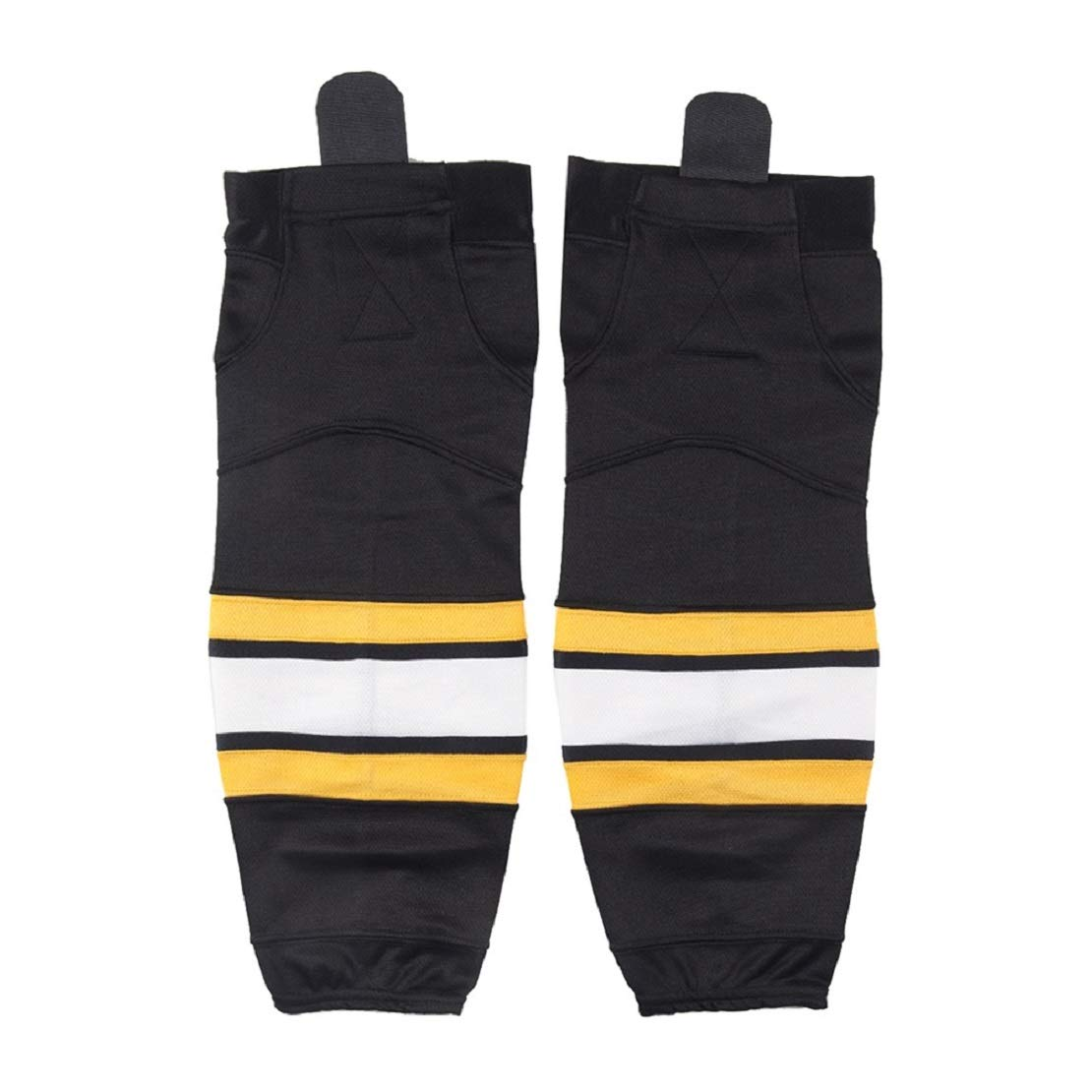 COLDINDOOR Hockey Socks Men, Adult Senior Mesh Ice Hockey Socks Black L by COLDINDOOR