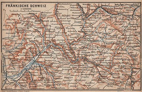 topo karte deutschland Amazon.com: FRANCONIAN SWITZERLAND. FRÄNKISCHE SCHWEIZ topo map
