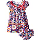 Bonnie Baby Baby Girls' Multi Colored Floral Knit Dress, Purple, 18 Months