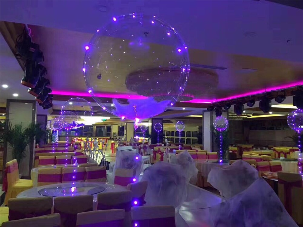 luminous clear balloon with led string lights