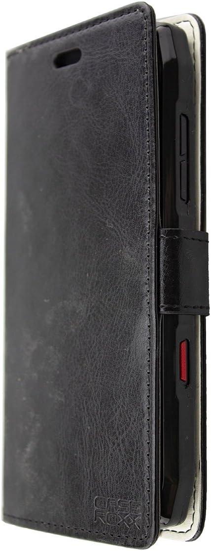 Set Bookstyle-Case de Coloris Noir caseroxx Bookstyle-Case et Film de Protection de l/écran pour Crosscall Action-X3