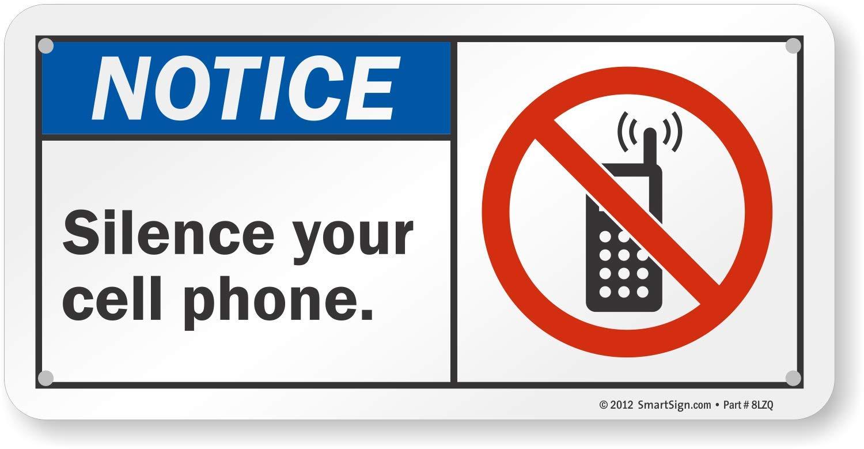 Por favor no - Silencio Tu Teléfono Móvil (con celda gráfico ...