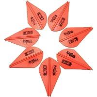 Plumas HuldaqueenMX 12pzas 2 Pulgadas de Caza Blazer Vanes Flecha Fletching Tiro con Arco Escudo Turquía para DIY Accesorios de Piezas Partes de Accesorio 12pzas Flecha Fletching