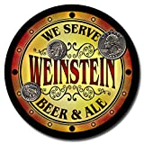 Weinstein Family Name Beer and Ale Rubber Drink Coasters - Set of 4