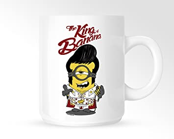 Elvis Minion King Of Banana 15 Tasse Amazonde Küche Haushalt