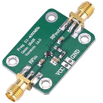 Hilitand Amplificador de Señal de RF de 0.1-4000MHz Amplificador de RF de Radio de Banda Ancha de microondas de Banda Ancha Gane 20dB: Amazon.es: ...