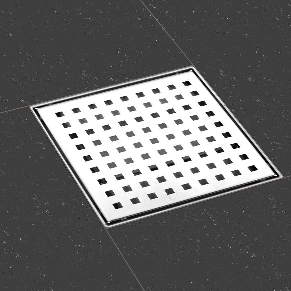 dise/ño moderno l/íneas Rejilla de ducha de desag/üe de suelo de ba/ño de acero inoxidable ba/ño largo invisible 100cm, Alicatable S SIENOC Desag/üe de ducha de acero inoxidable extremadamente plano