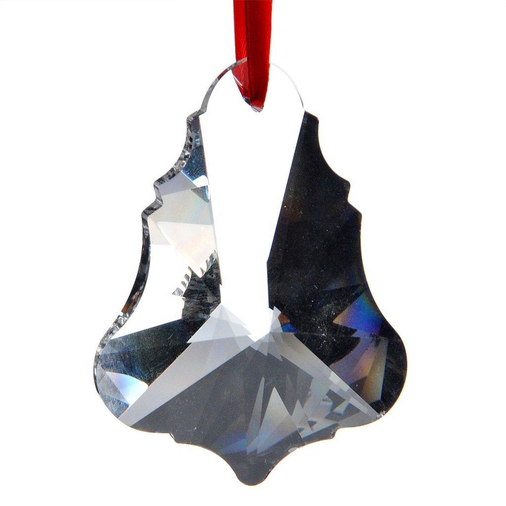 H&D 10pcs 76mm K9 Crystal Chandelier Prisms Drop Pendants Ceiling Lamp Parts Christmas Tree Decor Maple Leaf (Clear)