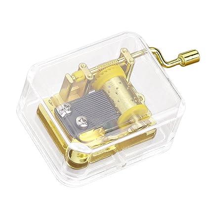 Amazon com: Music Box Mechanism Mini Clear Hand Crank Music