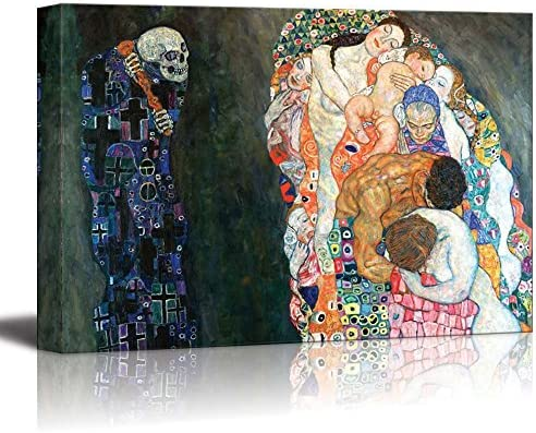 Death and Life by Gustav Klimt Print Famous Painting Reproduction