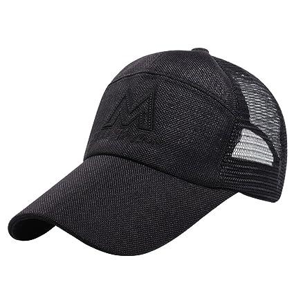 Men Summer All Mesh Sports Cap Baseball Hat Trucker/'s Cap Breathable Wide Brim