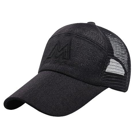 be1f3b12a3481 LONTG Men Mesh Caps Breathable Baseball Cap Sport Caps Casual Peak Cap  Snapback Hat Sun Hat Climbing Hiking Fishing Travel Caps Embroidery  Headwear ...