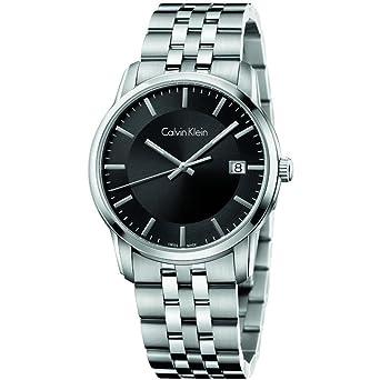 1312a11c93 Amazon.com: Calvin Klein Infinite Black Dial Stainless Steel Men's ...