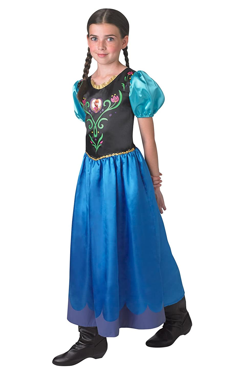 Rubie's 3 889543 S - Anna Classic, Frozen Kostüm, Größe S, dunkelblau Rubies 889543S