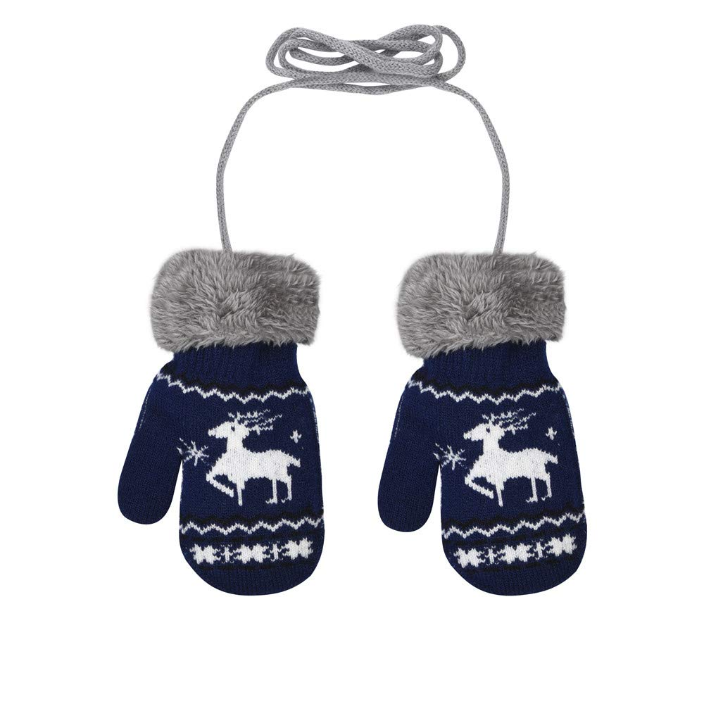 XXYsm Handschuhe F/äustlinge Baby Winter Kinder Weihnachten Hirsch Muster Chrismas Gloves