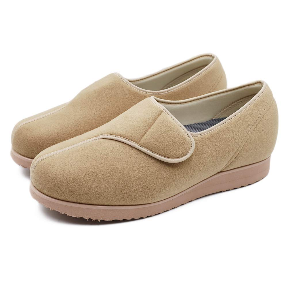 TARA SHOES Extra Wide Cozy Diabetic Edema Shoes Arthritis House Shoes Fit for Women Elderly Swollen Feet