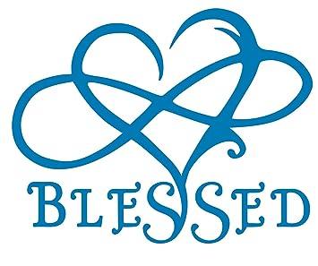 d0b1544662 Blessed Infinite Love Heart Decal Vinyl Sticker Graphics for Cars Trucks