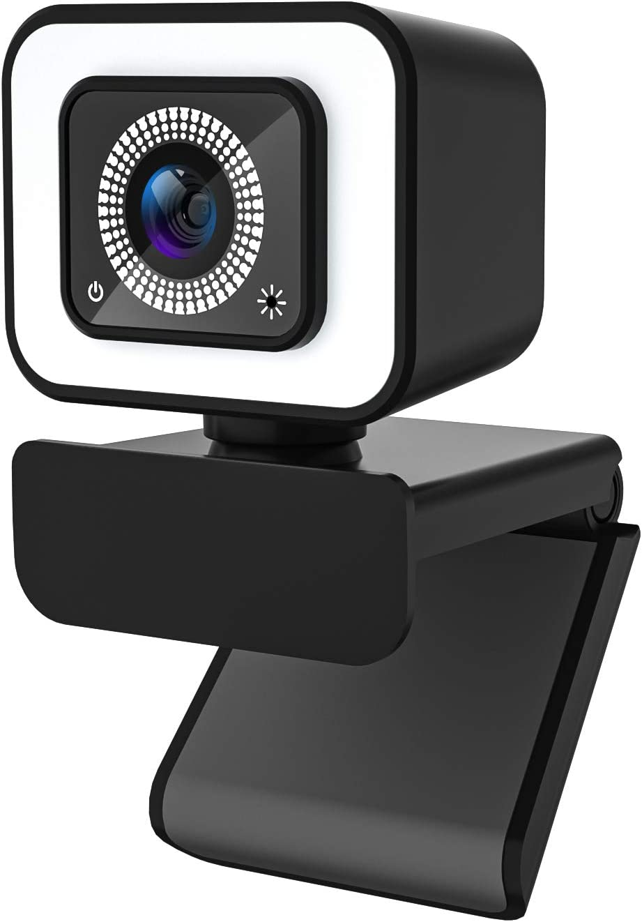 Spardar 2K 30 FPS Cámara Web en Vivo Full HD Enfoque automático de con luz anular, para videoconferencias/Juegos/Zoom/lecciones en línea, Compatible con Windows, Mac y Android