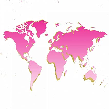 World map pink and gold fine art print on canvas gallery wrap world map pink and gold fine art print on canvas gallery wrap 12 publicscrutiny Gallery