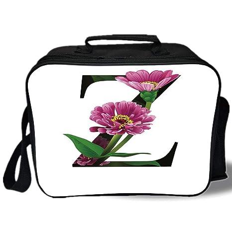 Amazon.com: Letra Z - Bolsa de almuerzo con estampado 3D ...