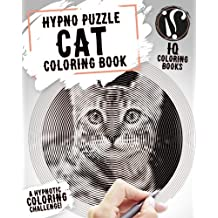 Cat Coloring Book: Hypno Puzzle Single Line Spiral and Activity Challenge Cat Coloring Book for Adults