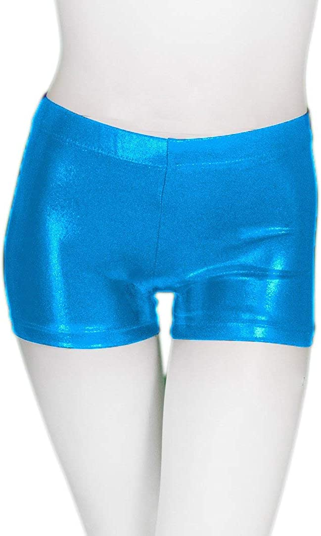 ZIZI Little Big Girls' Sparkle Dance Tumbling Athletic Gymnastics Short 2-14Years