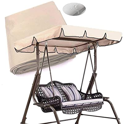 skyfiree Patio Swing Canopy Replacement Cover Waterproof 600D Polyester - 2 Years Warranty - Canopy Top Cover Replacement Canopy UV Block Garden Outdoor Porch Patio Swing Beige (Beige 55x47x7 inch) : Garden & Outdoor