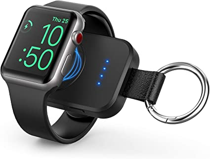 Portable Wireless Charger for Apple Watch, Portable iwatch Charger 1000mAh Smart Keychain Power Bank, Compatible for Apple Watch Series 5, 4, 3, 2, 1,