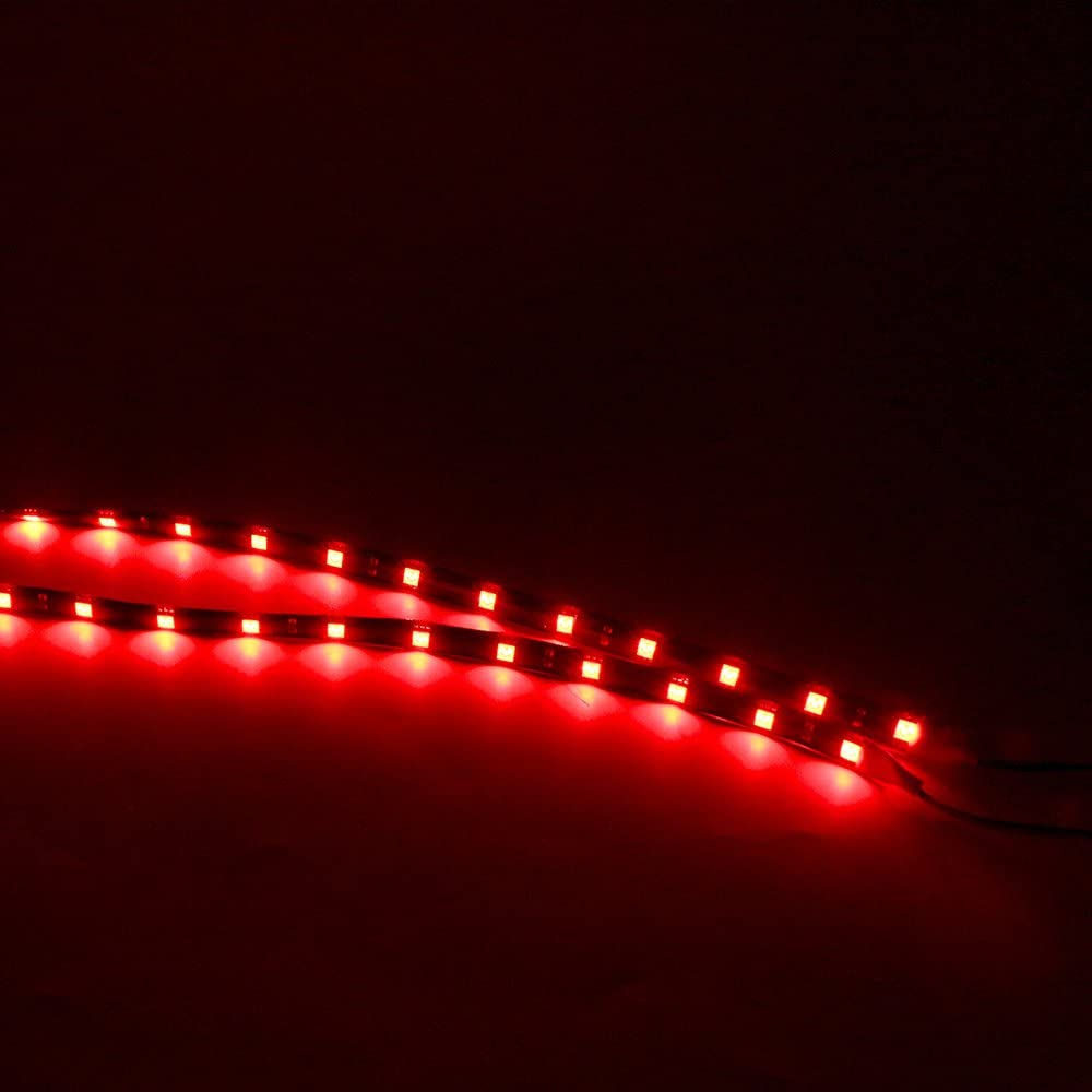 Amber Grandview 10 Pcs 30cm 5050 15SMD Car Flexible Waterproof LED Light Strip Interior Atmosphere Lamp Vehicle