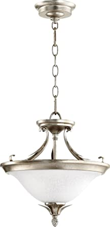 Quorum Lighting 2972 13 60 Flora Bowl Pendant 2LT 36 Watts Aged