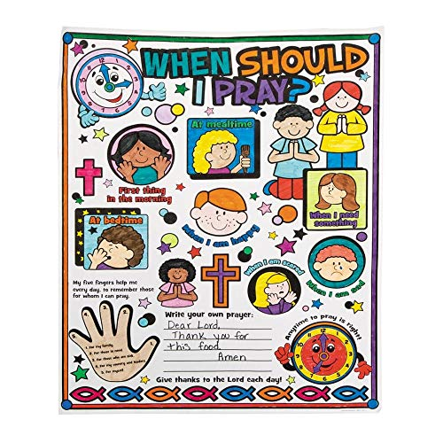 Color Your Own''When Should I Pray?'' Posters by Fun Express