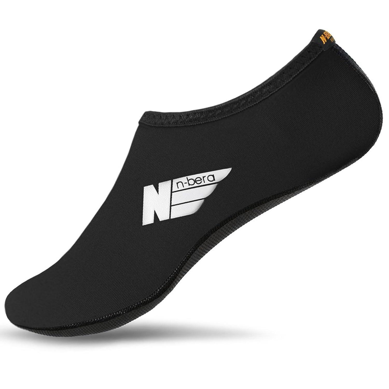 2f7b51f74904 NBERA Barefoot Flexible Skin Athletic Water Shoes Aqua Socks for Beach Swim  Surf Yoga Exercise chic
