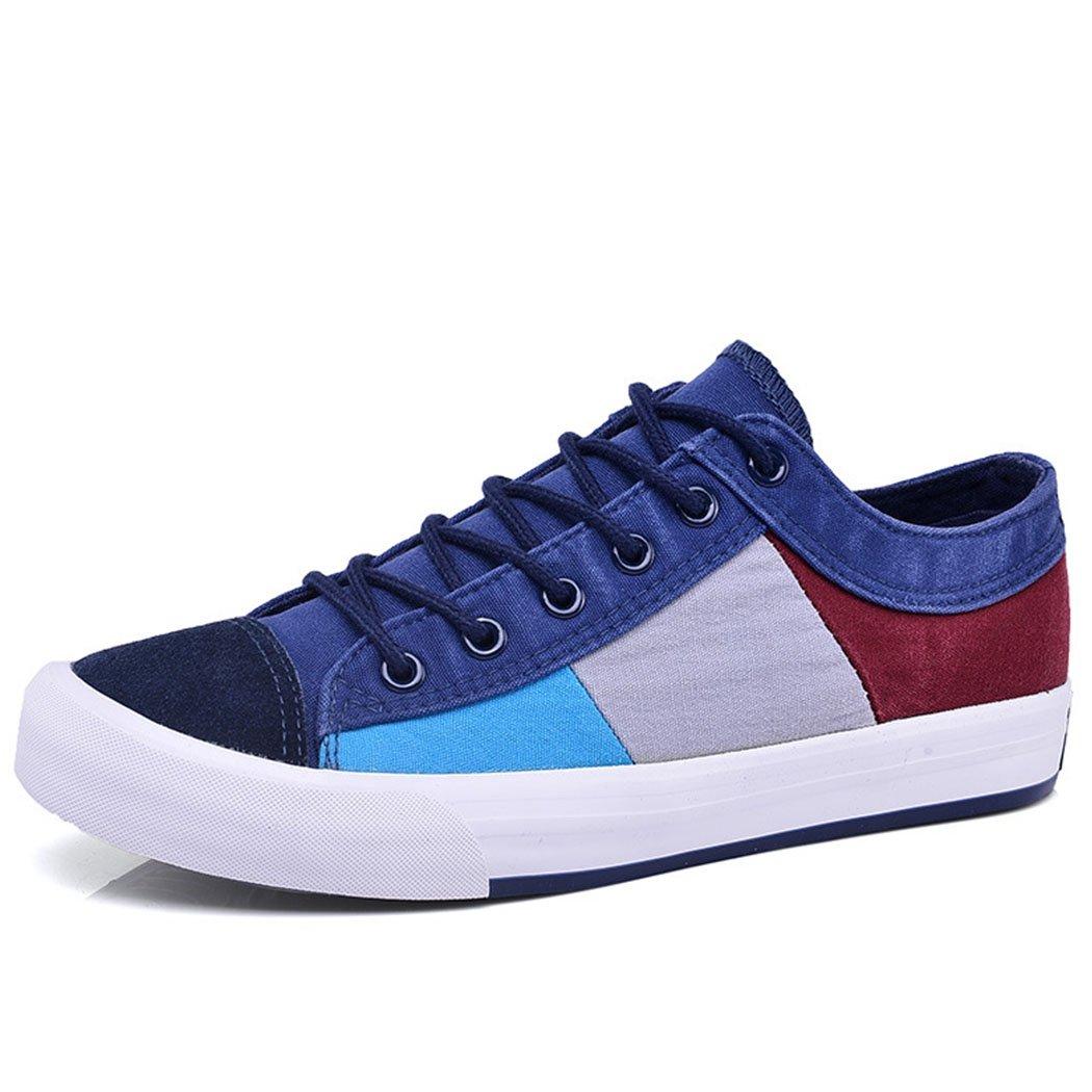 GAOLIXIA Herren Canvas Schuhe Mode Breathable Freizeitschuhe Flache Sportschuhe Outdoor für Walking Casual