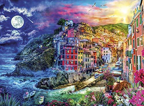 Buffalo Games - Night & Day Collection - Cinque Terre Splendor - 1000 Piece Jigsaw Puzzle