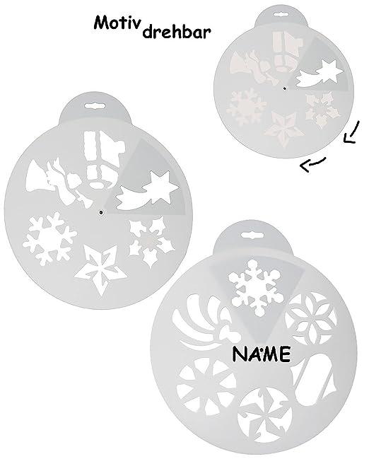 Unbekannt 13 Stück Schablonen Vorlagen Zb Für Schneespray