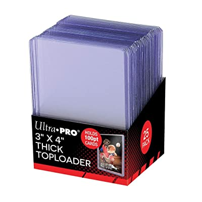"Ultra Pro 3"" X 4"" Super Thick 100PT Toploader 25ct: Sports & Outdoors"