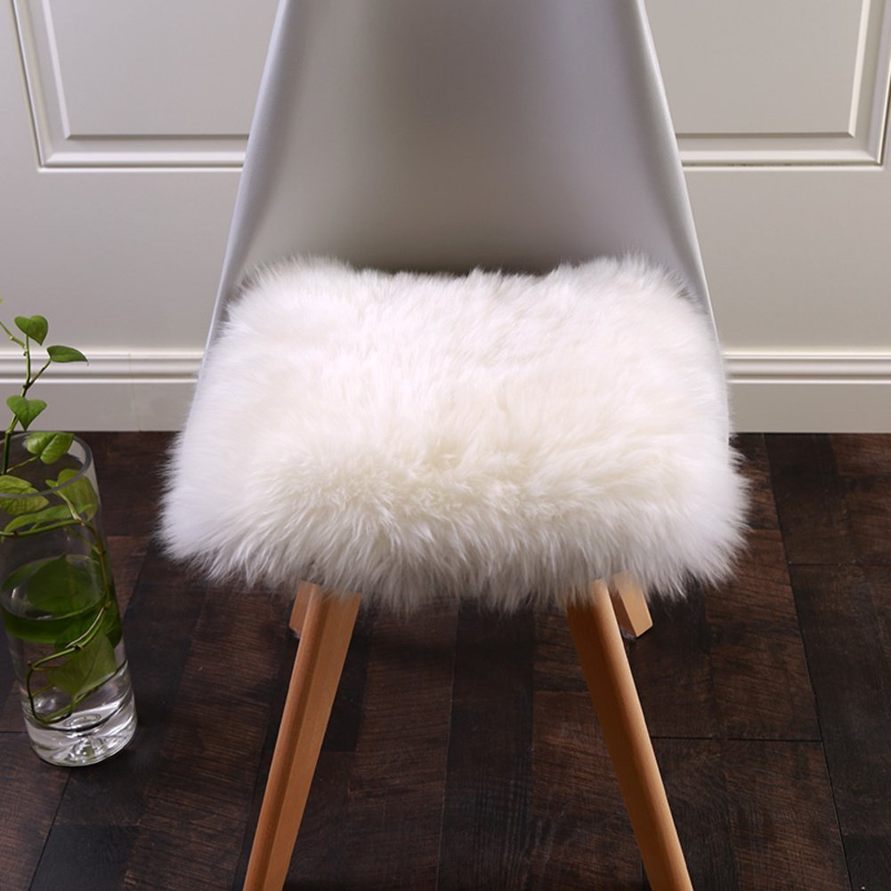 White Office Chair Or Plane Sell4style 18 Inch Australia Genuine Sheepskin Car Seat Cushion Covers Chair Pad One Seat Cover For Car Home Home Textiles