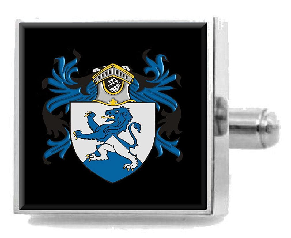 Select Gifts Giles England Heraldry Crest Sterling Silver Cufflinks Engraved Message Box
